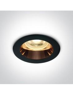 Oprawa podtynkowa czarna GU10 oczko Kanawi 10105M/B/CU - OneLight
