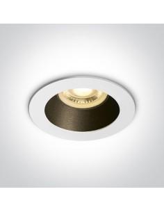Oprawa podtynkowa biało czarna oczko Kanawi GU10 10105M/W/B - OneLight