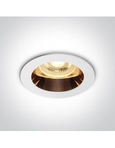 Oprawa podtynkowa biało złota Kanawi GU10 oczko 10105M/W/CU - OneLight