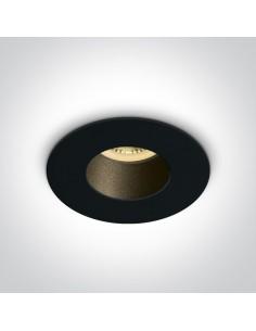 Oprawa podtynkowa czarna Joanis wpust okrągły 10105MD/B/B - OneLight