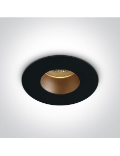 Wpust czarny mosiądz Joanis oczko okrągłe 10105MD/B/BS - OneLight