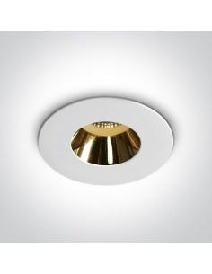 Oprawa podtynkowa Joanis GU10 wpust biało złoty 10105MD/W/GL - OneLight