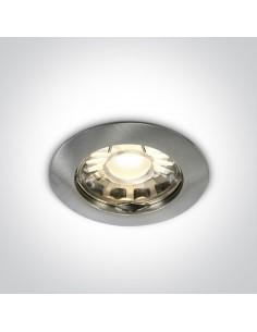Oprawa podtynkowa oczko Statos szczotkowane okrągłe 10105X/MC - OneLight