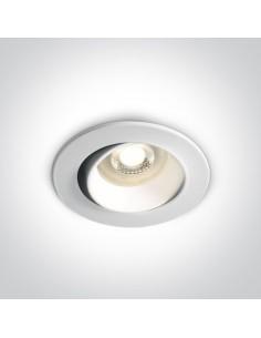 Oprawa podtynkowa regulowana biała wpust oczko GU10 Tsakistra 11105B1/W - OneLight