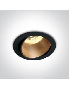 Oprawa podtynkowa regulowana GU10 Vitali czarny mosiądz 11105M/B/BS - OneLight