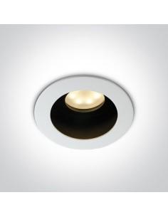Oczko podtynkowe regulowane czarno białe Korfi oprawa GU10 11105TA/W - OneLight
