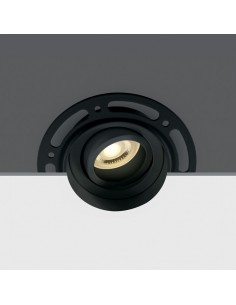 Oczko podtynkowe reulowane GU10 Kapilio oprawa czarna 11105TR/B - OneLight