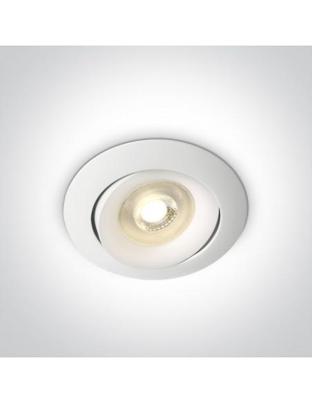 Oprawa podtynkowa regulowana wpust Arta 1 oczko białe 11105U/W - OneLight