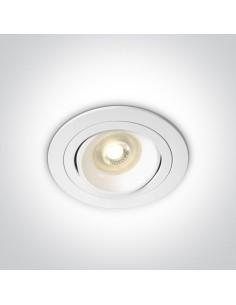 Oprawa podtynkowa regulowana Arta 3 wpust biały oczko 11105UB/W - OneLight