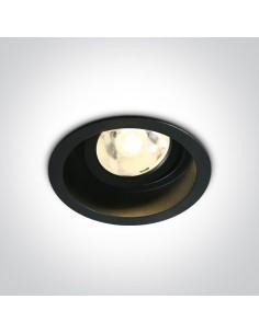 Oprawa podtynkowa regulowana LED Edesa czarne oczko 11106DB/B/W - OneLight