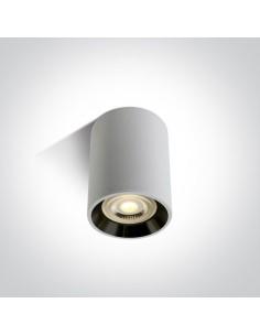 Tuba natynkowa GU10 Lawrio biało czarna 12105AL/W/B - OneLight