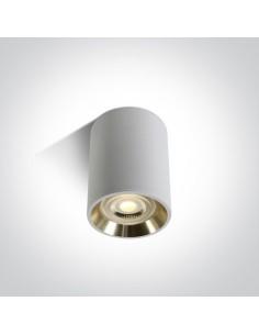 Tuba natynkowa biało złota Lawrio GU10 12105AL/W/GL - OneLight