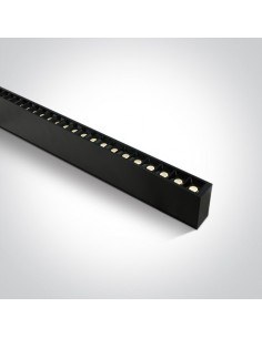 Oprawa sufitowa LED listwa czarna Syneti 3000K 38150B/B/W - OneLight