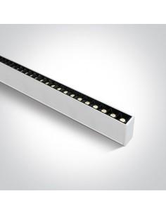 Oprawa sufitowa LED Syneti biała listwa 3000K 38150B/W/W - OneLight