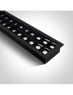 Oprawa podtynkowa LED listwa Pitrofos 4000K czarna 38150BR/B/C - OneLight