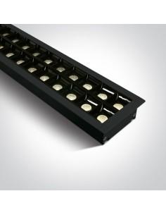 Oprawa podtynkowa LED Pitrofos 3000K czarna 40W listwa 38150BR/B/W - OneLight