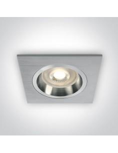 Oprawa podtynkowa kwadratowa Phylakopi GU10 aluminium 50105ALG/AL - OneLight