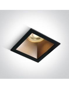 Oprawa podtynkowa kwadratowa Adamas czarny mosiądz 50105M/B/BS - OneLight