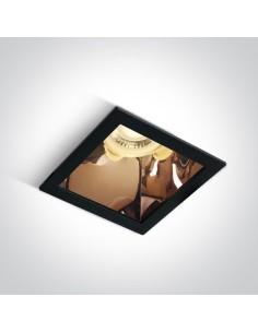 Oprawa podtynkowa czarny miedź Adamas kwadratowy wpust 50105M/B/CU - OneLight
