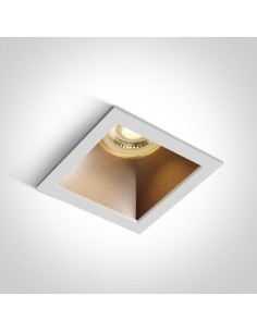 Oprawa podtynkowa biały mosiądz Adamas wpust 50105M/W/BS - OneLight