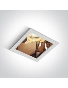 Oprawa podtynkowa Adamas biało miedziana kwadratowa wpust 50105M/W/CU - OneLight