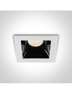 Oprawa podtynkowa LED Abram czarno biała 50107B/W/W - OneLight