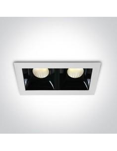 Oprawa podtynkowa LED Abram 2 punktowa czarno biała 50207B/W/W - OneLight