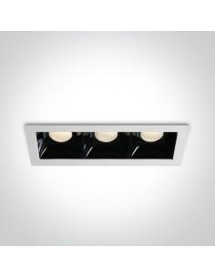 Oprawa podtynkowa LED czarno biała Abram 3 punktowa 50307B/W/W - OneLight