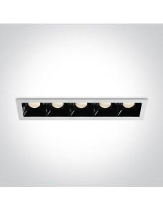 Oprawa podtynkowa LED Abram 5 punktowa czarno biała 50507B/W/W - OneLight