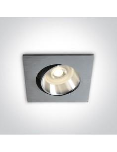 Oprawa regulowana kwadratowa Antigonia GU10 aluminium 51105B1/AL - OneLight