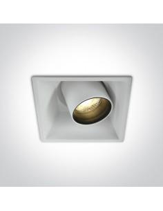 Oprawa podtynkowa regulowan LED Skiti 1 biała tuba 51111C/W/W - OneLight