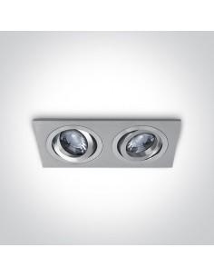 Oprawa podtynkowa regulowana Glafira aluminium GU10 51205ABG/AL - OneLight