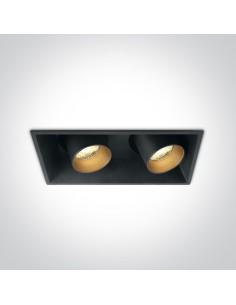 Oprawa regulowana podtynkowa LED Skiti 2 czarne tuby 51211C/B/W - OneLight