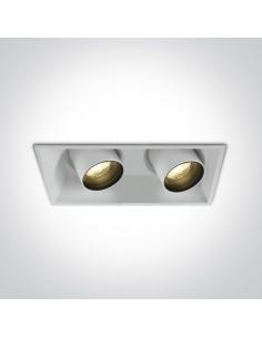 Oprawa podtynkowa biała regulowana LED Skiti 2 tuba 51211C/W/W - OneLight