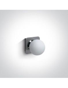 Kinkiet łazienkowy IP44 szczelny szklana kula Plesio 1 chrom 60107A/C - OneLight