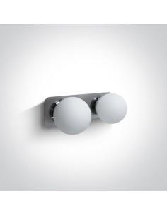 Kinkiet łazienkowy IP44 Plesio 2 punktowy szklane kule chrom 60107B/C - OneLight