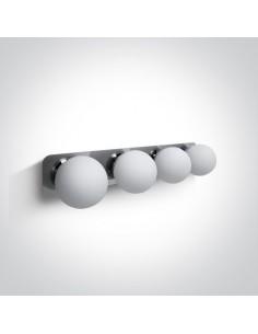 Kinkiet łazienkowy IP44 szklane kule Plesio 4 chrom 60107D/C - OneLight