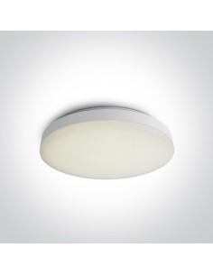 Plafon LED biały okrągły Makrino 20W nowoczesny 28cm 62022AM/W/W - OneLight