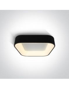 Plafon LED Meliana Led 38W czarny kwadratowy mały 62132NA/B/W - OneLight