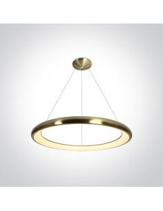 Lampa wisząca LED ring Kedros circle mosiądz zwis 61cm 62144NB/BBS/W - OneLight