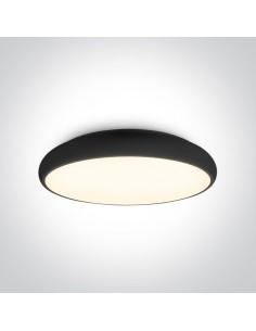 Plafon LED Drosia 61cm czarny okrągły nowoczesny 62160/B/W - OneLight