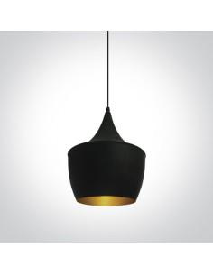 Lampa wisząca Kappas czarny mosiądz zwis retro 63044/B/BS - OneLight