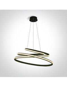 Charma lampa wisząca zawijana Led czarna 63046A/B - OneLight