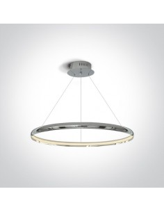 Lampa wisząca LED ring chrom 60cm Dolcedo zwis circle 63048/C - OneLight