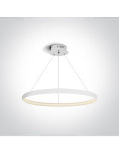 Lampa wisząca ring LED 60cm biały zwis Dolcedo circle 63048/W - OneLight