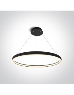 Lampa wiszaca LED 70cm circle Dolcedo ring czarny 63050/B - OneLight