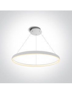 Lampa wisząca LED 70cm Dolcedo biały ring circle 63050/W - OneLight