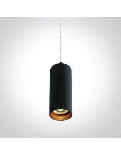 Lampa wisząca tuba czarno złota Ampeliko GU10 zwis 63105N/B - OneLight