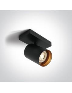 Oprawa sufitowa Elatos 1 czarny spot regulowany 65105N/B - OneLight