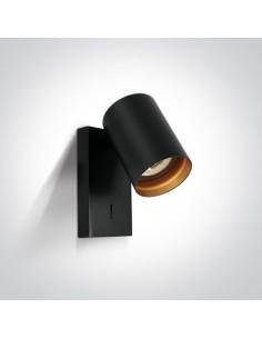 Kinkiet czarny regulowany z włącznikiem Elatos K 1 tuba 65105NA/B - OneLight